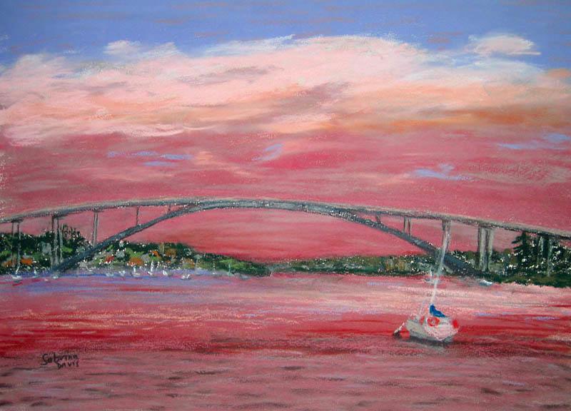 Gladesville Bridge, Soft Pastel 2007