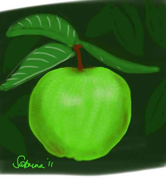 Little Green Apple - iPad drawing, 2012