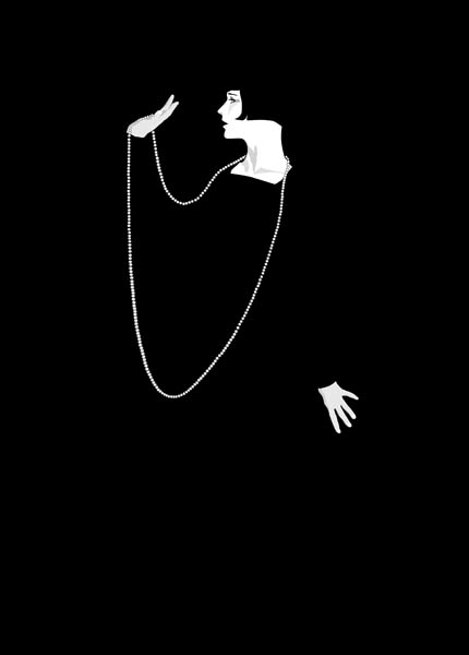 Louise Brooks, Illustrator drawing on Mac - items for sale at zazzle.com