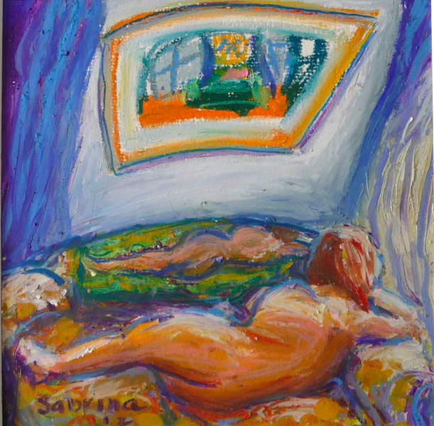 Morning, Montmartre. Oil pastel, 2012. Not for sale :-)