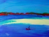 Mind the Sandbar - oil pastel, 2013