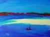 Mind the Sandbar - oil pastel, 2013