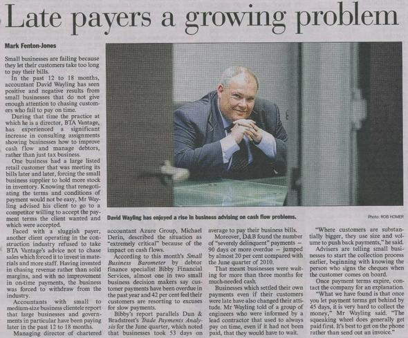 Late Payers a Growing Problem says AFR