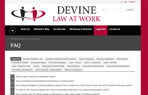 Devine Law at Work