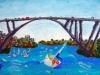 Gladesville Bridge, Oil Pastel, 2012 - (ON HOLD FOR CLIENT)