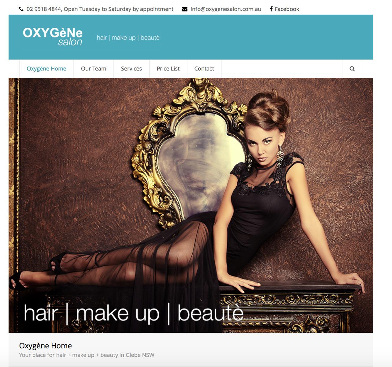Oxygène Website